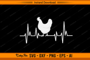 Chicken Heartbeat Design Graphic Print Templates By sketchbundle
