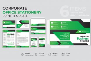 Print on Demand: Corporate Office Stationery Template Graphic Print Templates By gstudiovect 1
