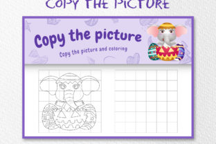 Cute Elephant Easter - Copy the Picture Graphic 10th grade By wijayariko