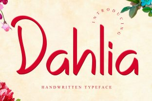 Print on Demand: Dahlia Script & Handwritten Font By dazzlinggleam