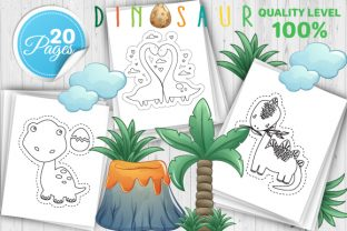 Print on Demand: Dinosaur Scissor Skills Book – Vol 1 Graphic Coloring Pages & Books Kids By Trend Color