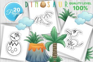 Print on Demand: Dinosaur Scissor Skills Book – Vol 2 Graphic Coloring Pages & Books Kids By Trend Color