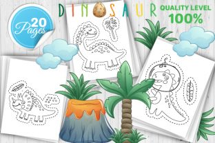 Print on Demand: Dinosaur Scissor Skills Book – Vol 3 Graphic Coloring Pages & Books Kids By Trend Color