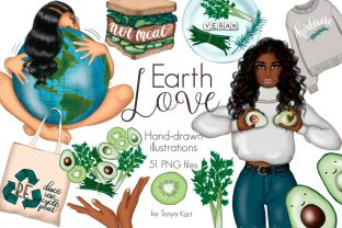 Earth Love Clipart Graphic Illustrations By Tanya Kart