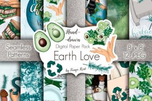 Earth Love Pattern Grafik Muster von Tanya Kart