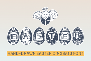 Print on Demand: Easter Dingbats Font By Dito (7NTypes)