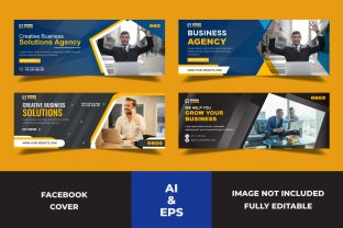 Facebook Cover Business Agency Template Graphic Websites By Miraz28