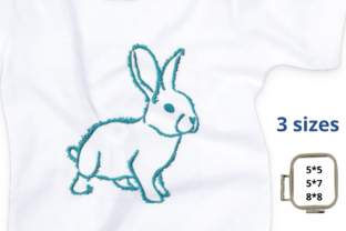 Fluffy Bunny Easter Embroidery Design By EmbDesigns