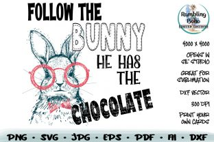 Print on Demand: Follow the Bunny He Has the Chocolate Graphic Illustrations By RamblingBoho