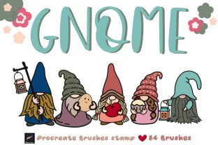 GNOME Procreate Brushes Stamp Graphic Brushes By tanvara544