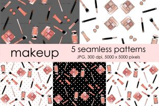 Girl Boss Makeup Fashion Patterns Graphic Patterns By arctiumstudio