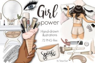 Girl Power Clipart Graphic Illustrations By Tanya Kart