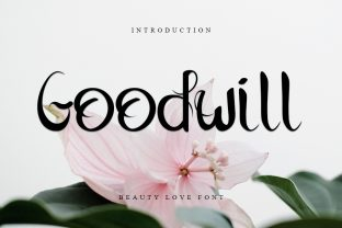 Print on Demand: Goodwill Script & Handwritten Font By Intana Type