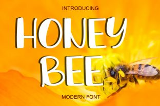 Print on Demand: Honey Bee Display Font By ABBAsalam