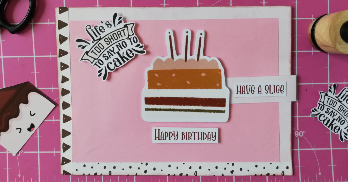 How to Make a Pull Tab Slider Birthday Card