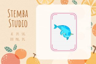 Illustration Unicorn Card Vector Design Grafik Druck-Templates von stembastudio