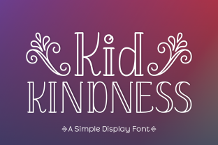 Print on Demand: Kid Kindness Display Font By Jasm (7NTypes)