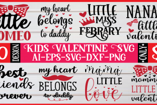 Kids Valentine SVG Bundle  By BDB Design Store
