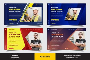 Landing Page Need an Electrician Graphic Landing Page Templates By Miraz28