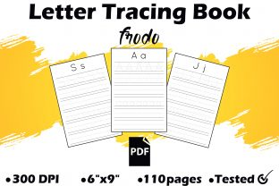 Letter Tracing Book Graphic KDP Interiors By Frodo