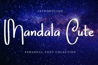 Print on Demand: Mandala Cute Script & Handwritten Font By dazzlinggleam