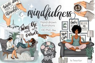 Mental Self Care Clipart Graphic Illustrations By Tanya Kart