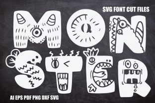 Print on Demand: Monster SVG Font Cut Files Graphic Crafts By KtwoP