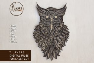 Multilayer - OWL Graphic Crafts By LaserCutano