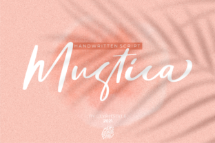 Print on Demand: Mustica Script & Handwritten Font By glyphstyle