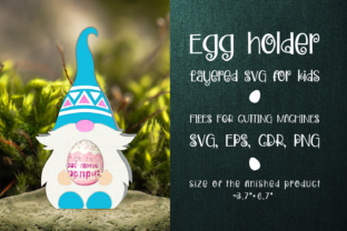 Print on Demand: Nordic Gnome - Chocolate Egg Holder SVG Graphic 3D SVG By Olga Belova