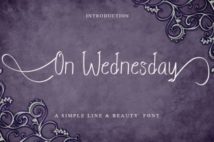 Print on Demand: On Wednesday Script & Handwritten Font By Intana Type