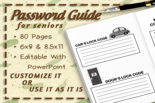 Password Guide Interior Graphic KDP Interiors By TheDigitalAxolotl