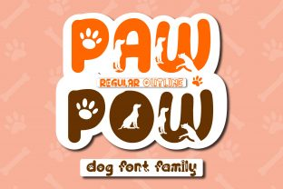 Print on Demand: Paw Pow Display Font By Mahesa Design