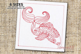 Pisces Astrology Sign Religion & Faith Embroidery Design By Redwork101