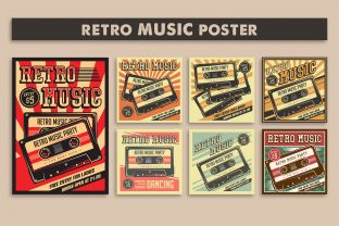 Print on Demand: Retro Music Compact Cassette Poster Graphic Illustrations By zullfikarilyas