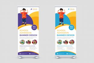 School Admission Signage Roll Up Banner Graphic Print Templates By mh.emon3742