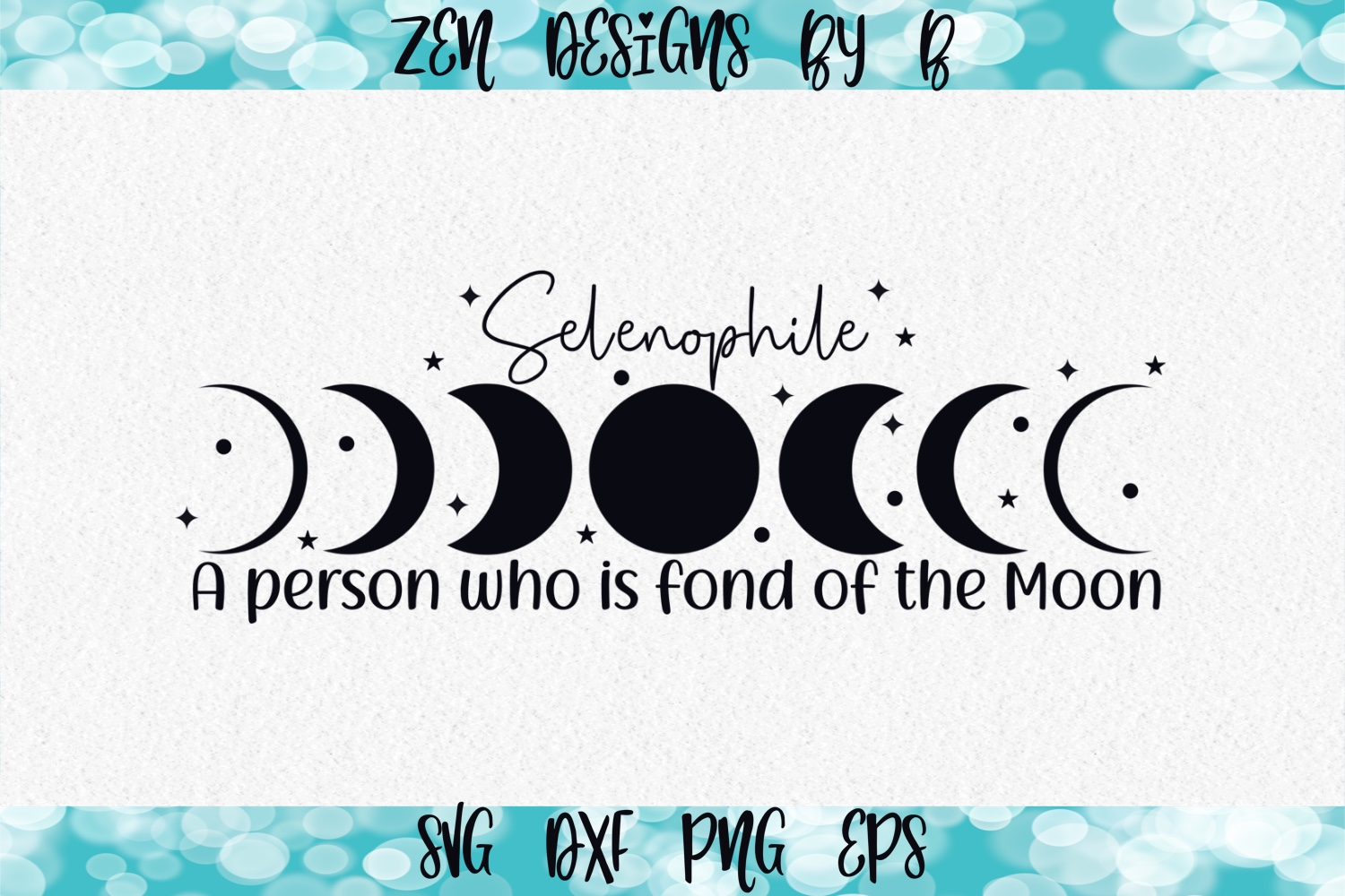 Selenophile Moon Phases Graphic SVG File
