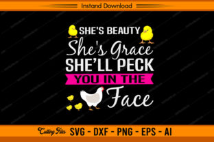 She's Beauty She's Grace Graphic Print Templates By sketchbundle