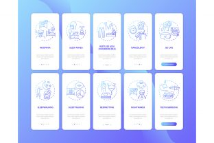 Print on Demand: Sleep Disorders Blue Gradient Web Pages Graphic Graphic Templates By bsd studio