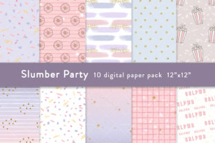 Slumber Party Digital Paper Digital Graphic Patterns By SincerelyNix