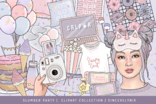 Slumber Party Fashion Clipart Graphic Illustrations By SincerelyNix