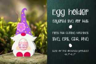 Print on Demand: Spring Gnome - Chocolate Egg Holder SVG Graphic 3D SVG By Olga Belova