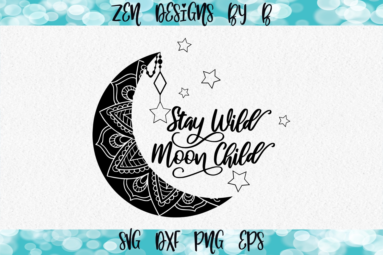 Stay Wild Moon Child Graphic SVG File
