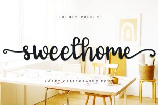Print on Demand: Sweet Home Script & Handwritten Font By GufronKFM