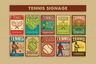 Tennis Signage Poster Graphic Illustrations By zullfikarilyas