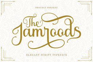 Print on Demand: The Jamroods Script & Handwritten Font By Skinny type