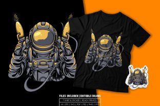 Print on Demand: T-shirt Design - Alien Hunter Graphic Print Templates By bagusjulianto