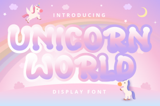 Print on Demand: Unicorn World Display Font By Planetz studio