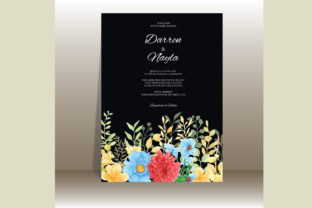 Wedding Invitation Card with Flower Graphic Graphic Templates By Darren Studio
