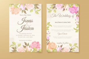 Print on Demand: Wedding Invitation Template Concept Gráfico Plantillas para Impresión Por lukasdediz